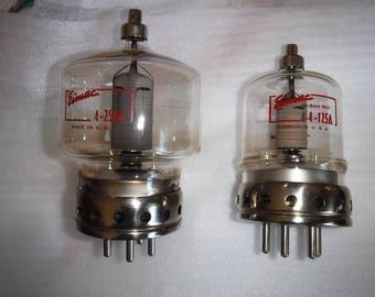 Radio Vacuum Tubes EIMAC 4-250A 5D22 1 piece & 4-125A 4D21
