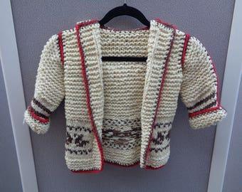 Child's Hand-Made Wool Sweater