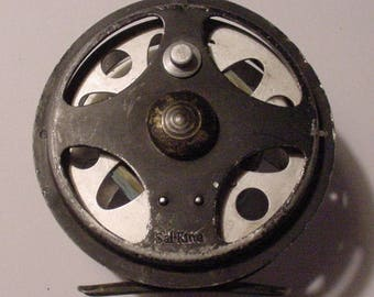 Rare Vintage Marked SAL-KING Fly Fishing Reel Salt King Salmon Mystery Collector's Reel