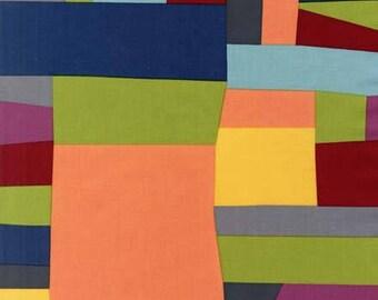 "END OF BOLT - 10"" X 44"" - Merlot Stained Glass From Robert Kaufman"