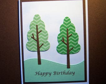 Two Trees Birthday Card