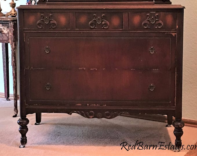 "ANTIQUE Dresser BATHROOM VANITY To Be Converted Painted Custom - Renovation - Remodel - Building - 40"" Wide Cabinet Is In-Stock"