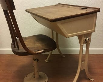 Antique School Desk And Chair U2022 Antique Vanity