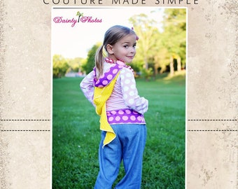 Trista's Knit Pixie T-shirt PDF Pattern sizes 6-12m to 8 girls