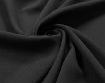 Crepe De Chine -CDC- Fabric by the yard (201) Black