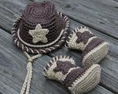 Cowboy Hat and Boots, Cowboy Hat, CowboyBoots, Crochet Cowboy outfit, Cowboy Hat and Boot Set, Crochet Cowboy Hat, Mrs Vs Crochet