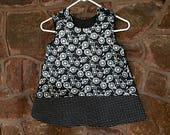 Polka-Dot Bicycle Pinafore Jumper Dress, Cotton Dress, Baby Dress, Baby Jumper, Toddler Dress, Infant Dress, Pinafore Dress