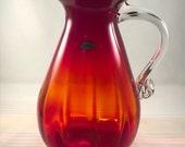 Blenko 938 pitcher in tangerine