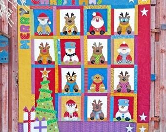 Santa's House PDF Quilt Pattern | Quilt Patterns | PDF Quilt Pattern | Christmas Quilt | Christmas Quilt Pattern | Kids Quilts