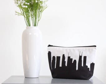 Nashville City Makeup Bag - Skyline Silhouette
