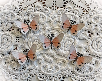 Reneabouquets Tiny Treasures Butterfly Set -  Sweet Dreams Premium Paper Butterflies In Dusty Peach
