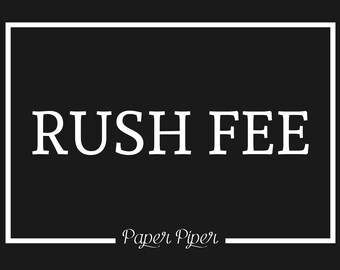 Rush Fee for Guest Books - Ships out in 2 to 3 Business Days