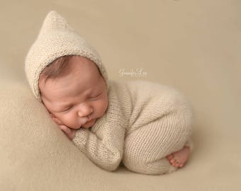 Newborn Sleeper Outfit, Hooded Outfit, Photo Prop