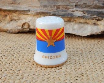 Arizona Porcelain Thimble  ~  Arizona Souvenir Thimble  ~  Tombstone, Arizona Thimble  ~  Arizona Souvenir   ~  Arizona Thimble