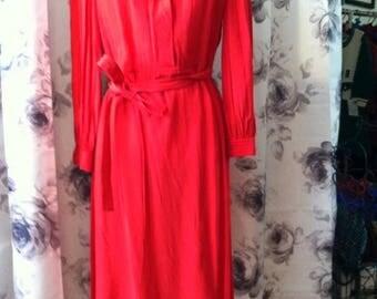 Vintage Summer Sale Mod red Pierre Cardin dress sz 8