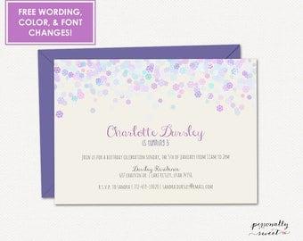 Snowflake Invitation / Winter Printable Invitation / Snowflake Printable / Snowflake