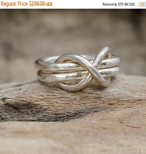 ON SALE Infinity Ring - Infinity Knot Ring  - Silver Infinity Ring - Fine Silver Infinity Ring
