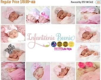 SALE 25% OFF NEWBORN Bow, newborn bow hat, newborn girl, Baby girl hat, newborn girl hat, hospital newborn hat, newborn hat