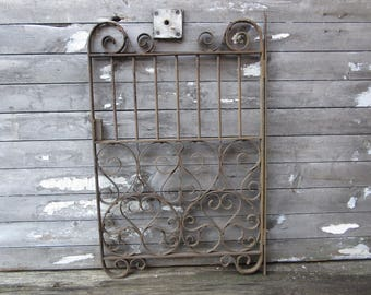 Authentic Victorian Iron Metal Gate Hearts Real Small Sized Garden Gate Outdoor Decor Rusted Aged Metal Iron Decor Architectual Salvage Old
