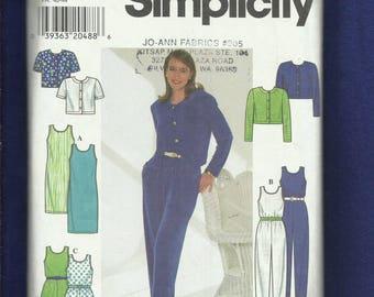 Simplicity 7711 Tank Top Dress Jumpsuit Romper & Jacket Size 12..14..16 UNCUT
