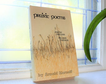 Prairie Poems by Arnold Marzolf Vintage 1974 Poetry Book Author Signed