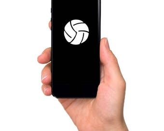 Volleyball Cell Phone Decal