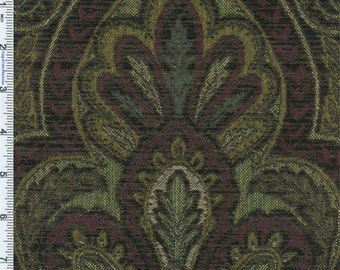 Designer Ebony Madone Chenille Tapestry Decorating Fabric, Fabric By The Yard