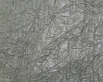 Metallic Grey Crinkle, Fabric By The Yard
