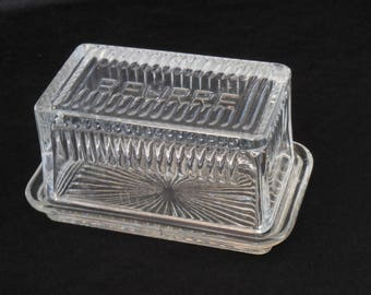 French Crystal Butter Keeper