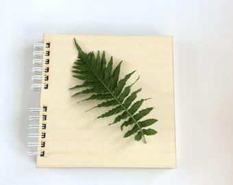 Blank scrapbook album / wooden cover album / big photo album / memory journal / keepsake album / plain photo album