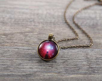 Nebula Necklace - Christmas Tree star cluster & the Cone Nebula - Galaxy Series