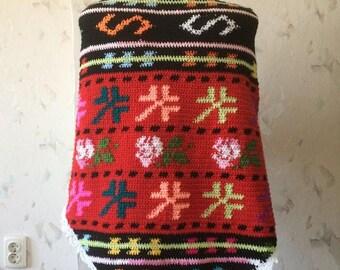 ON SALE - 10% OFF Crochet Native  Shawl...Traditional Bulgarian Motives