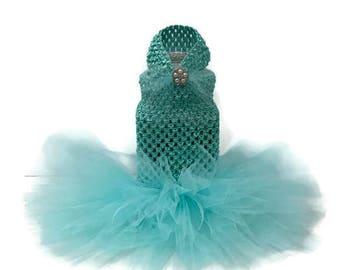 Aqua Cat Tutu-Cat Wedding Tutu-Tutu-Cat Dress-Wedding Dress for Cats-Cat Clothes-Cat Dresses-Tutus for Cats