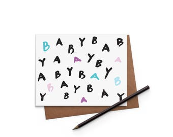 Congrats - Baby Card - Greeting Card - New Baby - Digitally Printed A2 Cards w/ envelope