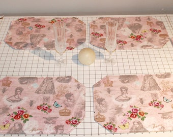 Reversible Romantic/Spring Placemats (Set of 6)