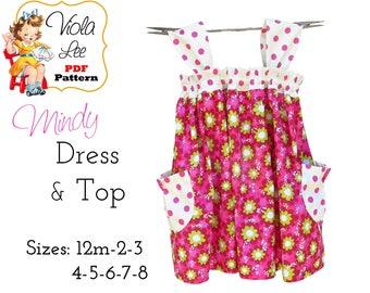Mindy Girl's Dress Patterns. Toddler Dress Sewing Pattern pdf, Girl's Top Patterns, Dress Sewing Pattern. Toddler Dress Pattern. pdf Pattern