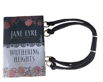 Jane Eyre and Wuthering Heights - Bronte - Book Purse - handbag - Made to Order