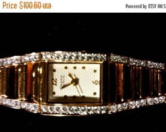 On Sale at Etsy Bulova Caravelle, Gold, Diamond, Watch, Sweep Second Hand, A7, C833126, Runs Perfect, Battery out to prevent corrosion. Supp