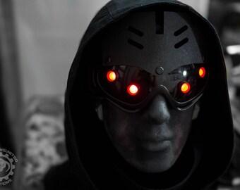 Hivemind v.2.5 Dystopian Cyberpunk light up costume future steampunk goggles