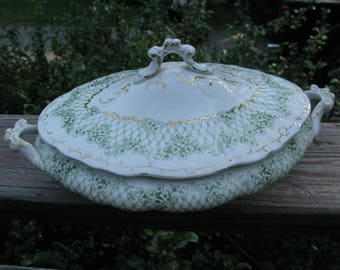English Porcelain Casserole Dish