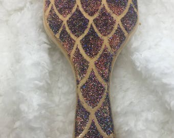 Dragon Scale Wood Paddle Brush