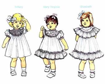 Childrens Corner Pattern / Heirloom Dress Pattern / Round Yoke Pattern / French Hand or Machine Sewing / Classic Girls Dress / # 36