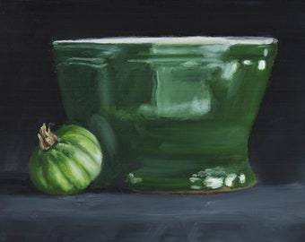 Green Tomato with Bowl