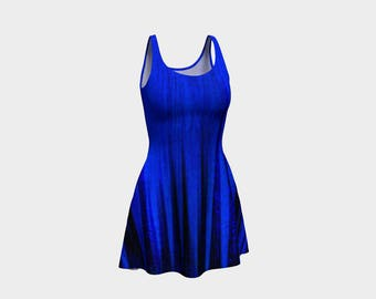 Chic Blue Flared Dress that will make you the hit of any Gala! - 36