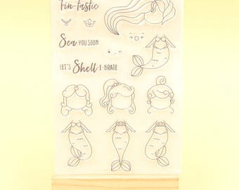 Create Your Own Mermaid Clear Stamp Set