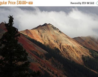 On Sale Red Mountain, Colorado Rockies, Mountains, Trees, Clouds