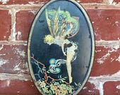 Vintage tin - Fairy, Butterfly