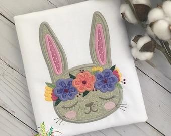 Easter shirt, girls Easter shirt, Easter Bunny Shirt, Easter outfit, Easter rabbit shirt, rabbit shirt, spring shirt, spring outfit,