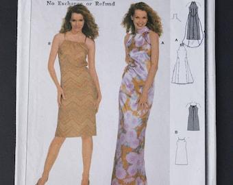 90's Burda Sewing Pattern 8636, Tight Fitting Dress , Misses Size 6 - 18, XS, S, M, L, XL