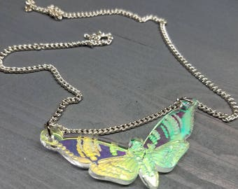 Death Moth Necklace | Laser Cut Jewelry | Handmade Necklace | Acrylic Necklace
